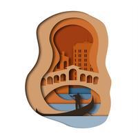 Venedig Papierkunstart