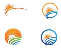 Sun generisches Logo und Symbole vektor