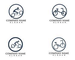 Cykellogotyp och symboler vektor