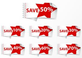 Discount Labels-Tags vektor