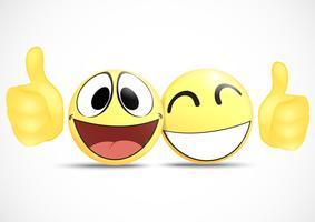 Emoticon mit dem Daumen Geschäftshandelskonzept vektor