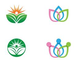 människor Hälsosam livslogo logotyp mall vektorikonen vektor