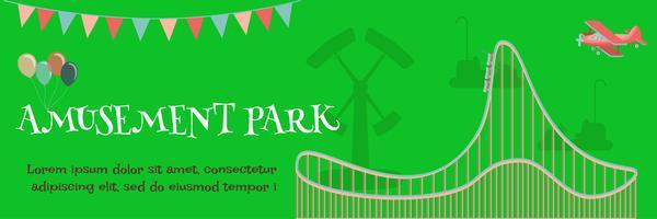 Vergnügungspark-Plakat