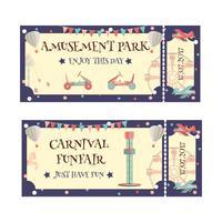 Ticket für den Vergnügungspark