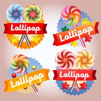 samling lollipop märke vektor