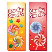 Süßigkeiten Süßigkeiten Banner vektor
