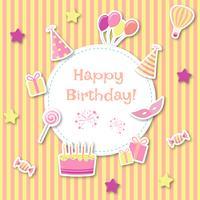 Kindische Geburtstagskarte vektor
