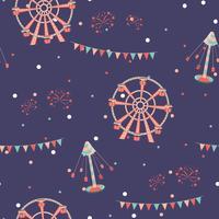 Nöjespark sömlöst mönster