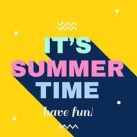 Es ist Sommerzeit-Vektor