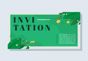 Inbjudningskortvektor vektor