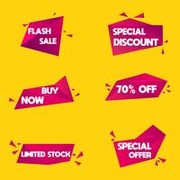 Försäljning och rabatt grafisk element banner