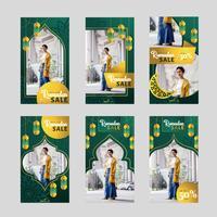 Ramadan-Verkaufs-Instagram-Geschichten-Schablone