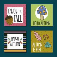 Herbst-Karten-Auflistung