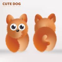 söt hund docka vektor design