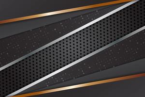Modernes Design des geometrischen schwarzen Farbzusammenfassungshintergrundes mit Kopienraum, Vektorillustration für Ihr Geschäft und Web-Fahnendesign.
