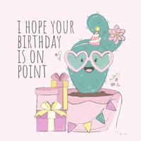 Kakteen-alles- Gute zum Geburtstagkarte