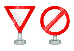 Avkastning och ej tillåtna tecken vektor