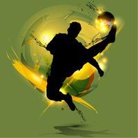 fotbollsspelare bläck stänk vektor