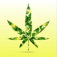 abstrakta cannabisbladen