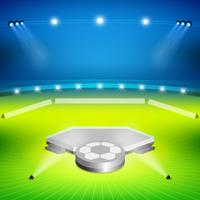 fotbollsstadion med vinnare står vektor