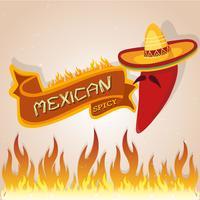 Mexikanska kryddiga papper vektor