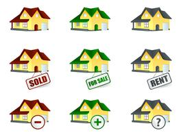 Haus zum Verkauf und zur Miete vektor