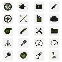 Autoservice-Symbole