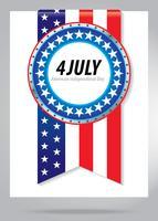 4 juli självständighetsdag symbol vektor
