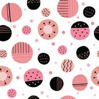 Abstrakt söt rosa måla sömlös mönster vektor.