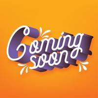 Bald erhältlich Typografie-Vektor-Design
