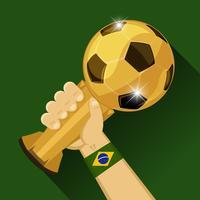 Fotboll trofé för Brasilien vektor