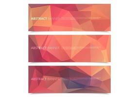 Gemetrisk polygonal banners vektor pack