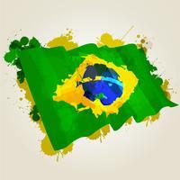 Brasilien Splatter Flagge vektor