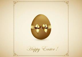 Golden Egg Fröhliche Ostern Vektor