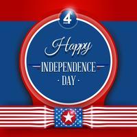 4 juli självständighetsdagen vektor