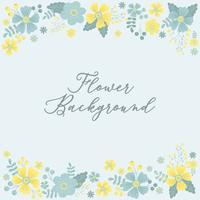 Handdragen Flower Invitation Gränsbakgrund - Vektorillustration