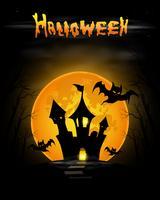 Halloween natt bakgrund vektor