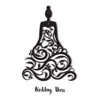 Hochzeitskleid Vorlage vektor