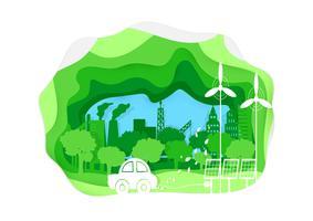 Umwelt Papierkunststil vektor