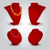 Röd står för smycken vektor