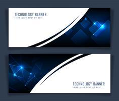 Futuristisk abstrakt teknologi banner