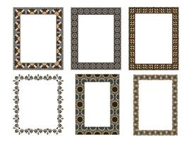 quadratischer eleganter Rahmen. Vektor-Illustration. Sammlungssatz