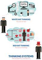 Denkender Mann Infografik