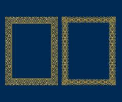 Satz dekorative Weinleseluxusrahmen und Grenzen eingestellt, Goldfotorahmen Vektordesign-Dekorationsmusterart.