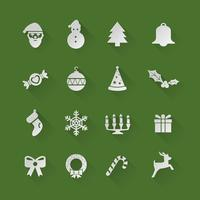 Weihnachtsflache Ikonen vektor