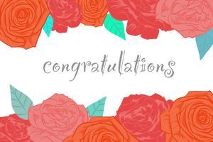 Blomblommig banner bröllopskort