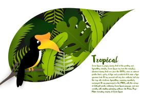 Tropiska blad bakgrund vektor
