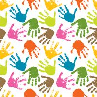 sömlös vektor mönster av tryck av händer