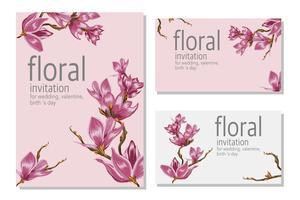 Plakatblumenblumen-Hochzeitskarte