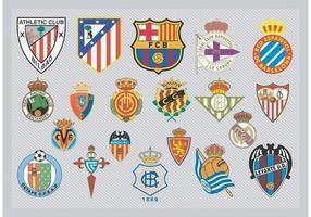 Spanische Fußballmannschaft Logos vektor